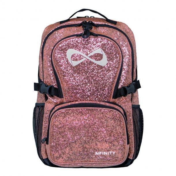 Nfinity - Millennial Pink Sparkle rygsæk - Limited Edition