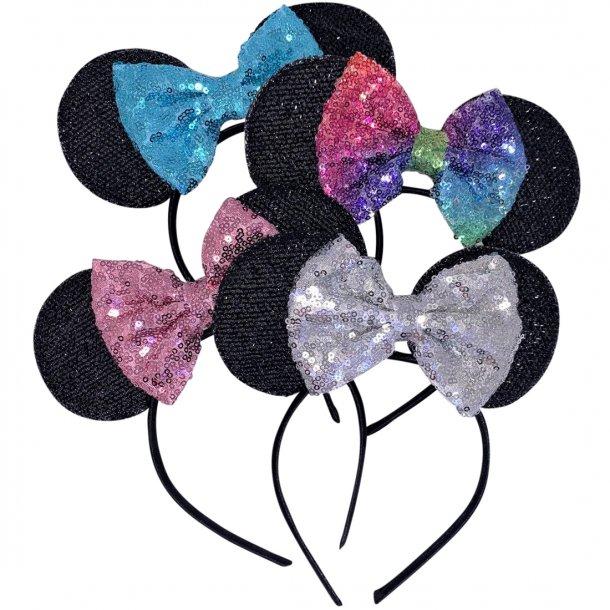 Mickey Mouse hårbøjle med sløjfe